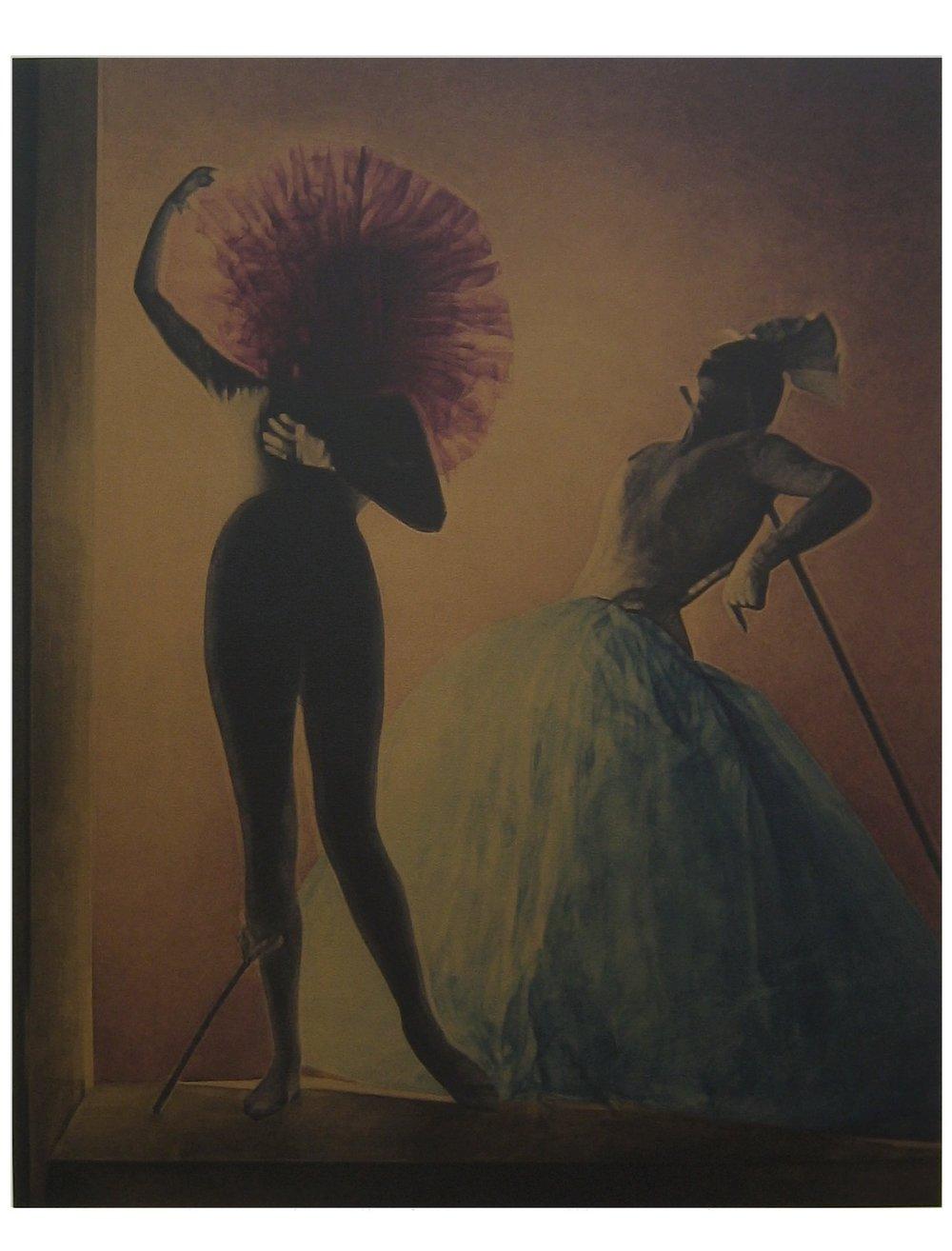 after Horst, Paris 1939    57x44,acrylic on canvas, 2006