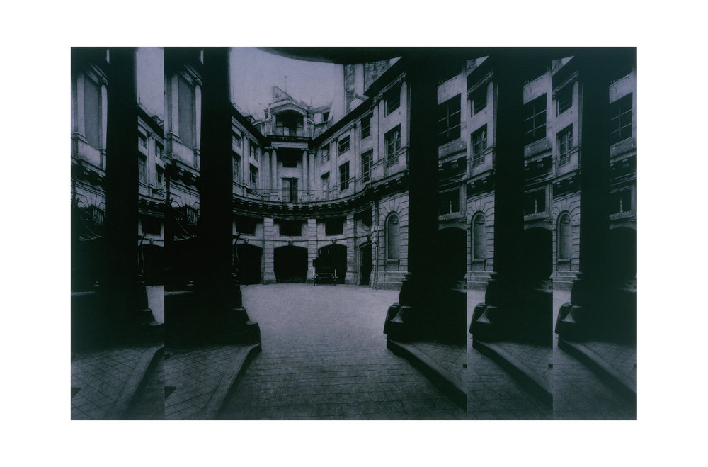 after Atget, 1902 (Hotel de Beauvais)    48x72.5  , acrylic on canvas, 2001