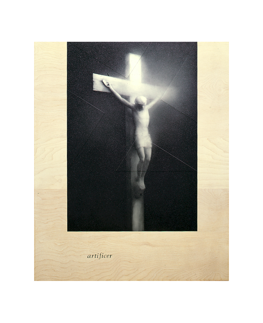 artificer (after Serrano, 1987 / Piss Christ)    48x39.5, acrylic on birch plywood, 1991