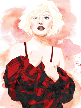 Water color portrait - Marilyn