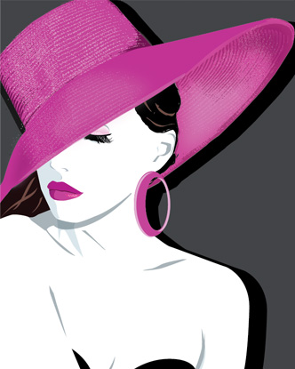 Pop Art - Pink Hat