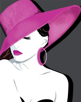 Pop Art - Pink Hat