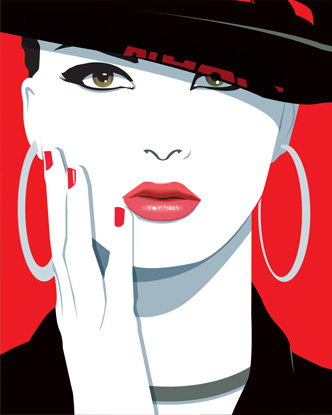 Pop Art Portrait - Black Hat