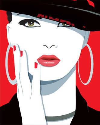 Pop Art Portrait - Black Hat