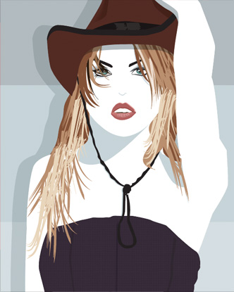 Pop Art - Cowboy girl