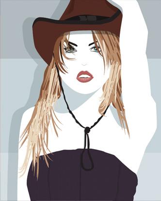 Pop Art - Cowboy girl