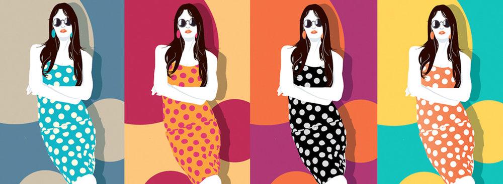 Portrait - Warhol Quad Women