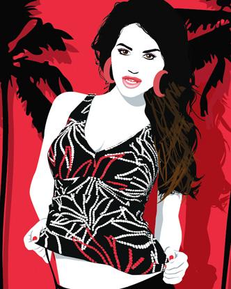 Pop Art - Palm Girl