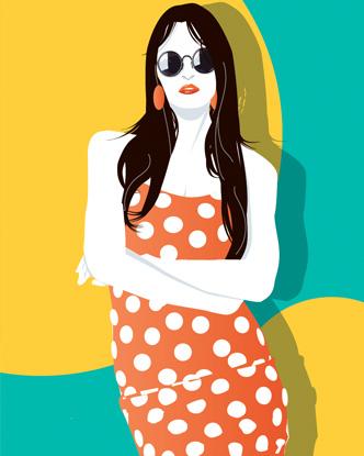 Pop Art Portrait - Warhol Girl