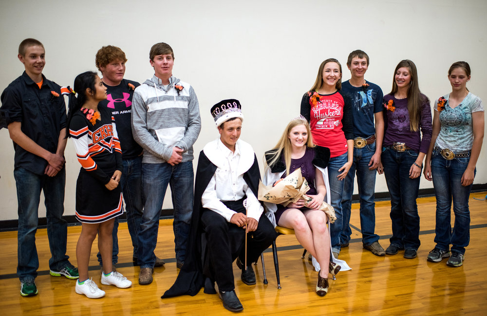 Walker Wolff, the homecoming king, is the only boy in the high school who doesn't play football.