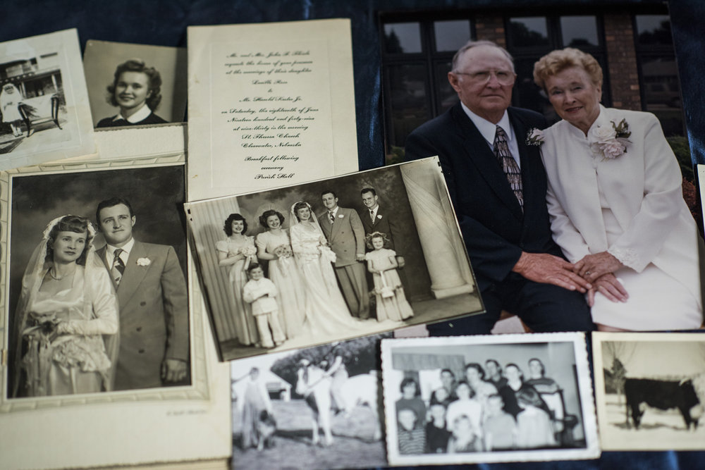 A collection of photographs from Harold and Lucille's life together.