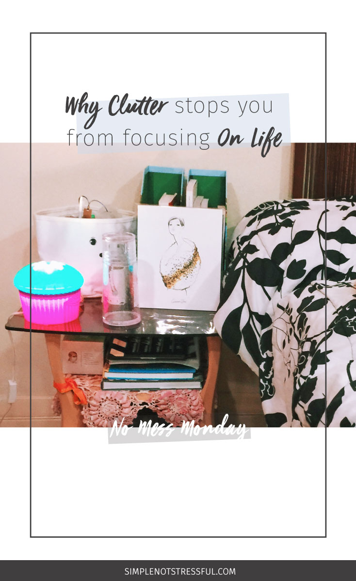 Lack focus? It could be the clutter piled up around you! Click through for more details + an update on my hoarding habit this No Mess Monday.