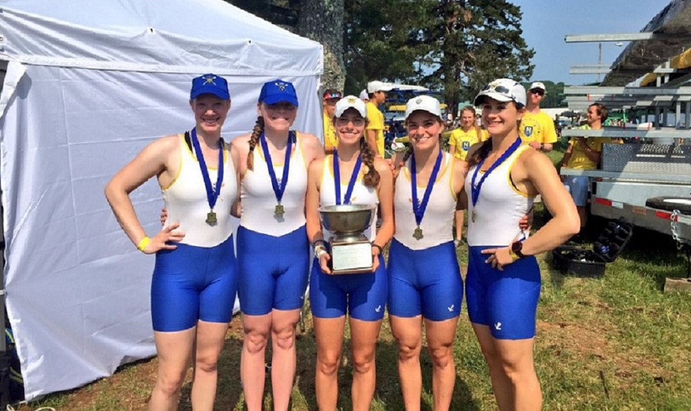 2015 Southeast Regional Women's Youth 4+ Champions: (L-R) Eden Norris, Aine McGinn, Caroline Lawrence, Michele Holtkamp, Abby Tarquinio