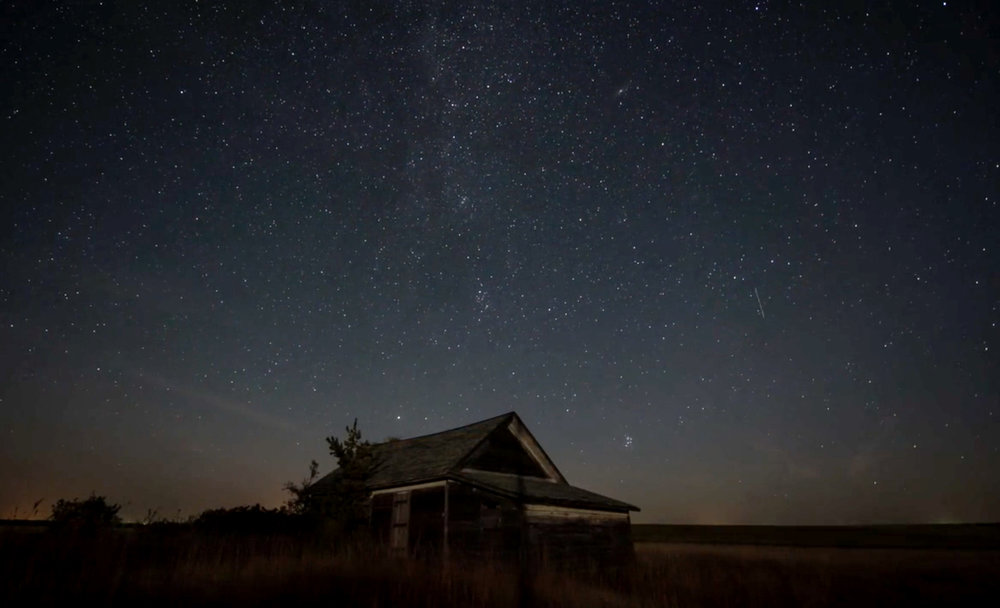 An abandoned schoolhouse in Holt County, Nebraska. It was one of the first locations Kevin took us to and one of the first overnight time-lapses we captured in Nebraska.