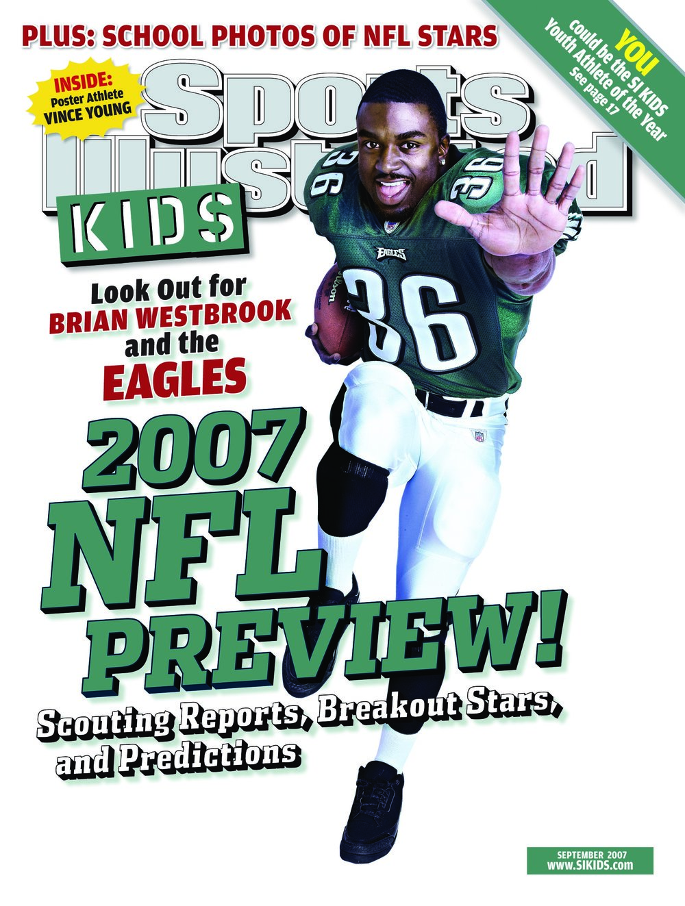 The cover mock-up for SI for Kids.