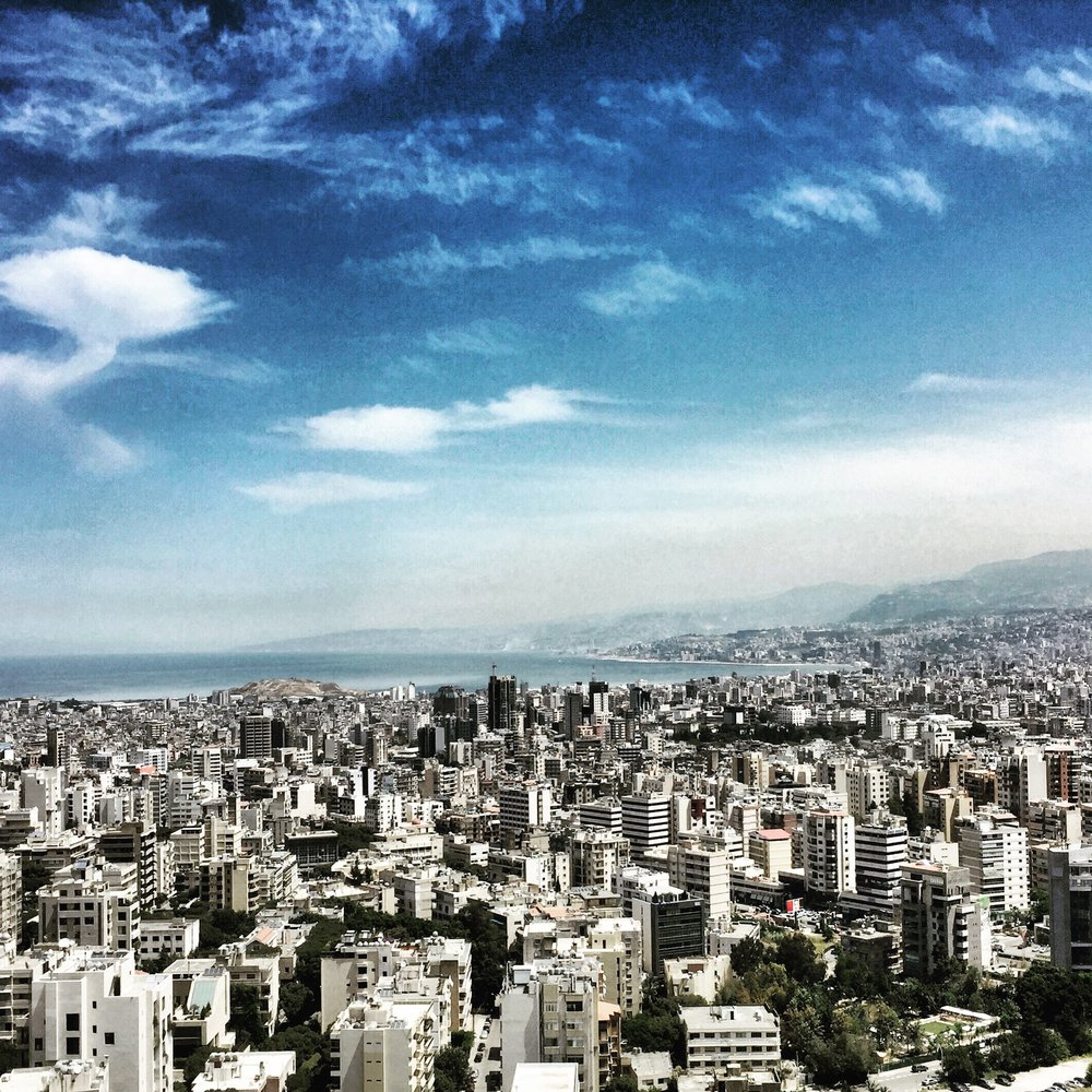 Beirut from a balcony.