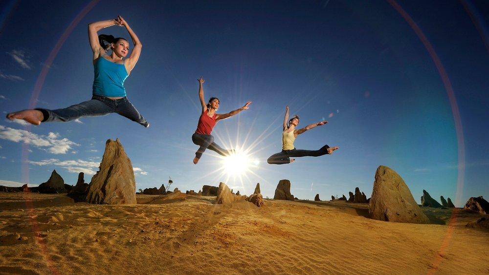 Dancers in the desert.