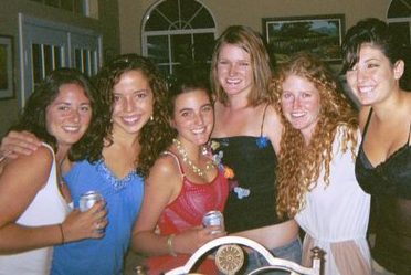 Seniors in high school. I'm on the far left, Sierra is the red-head on the right.