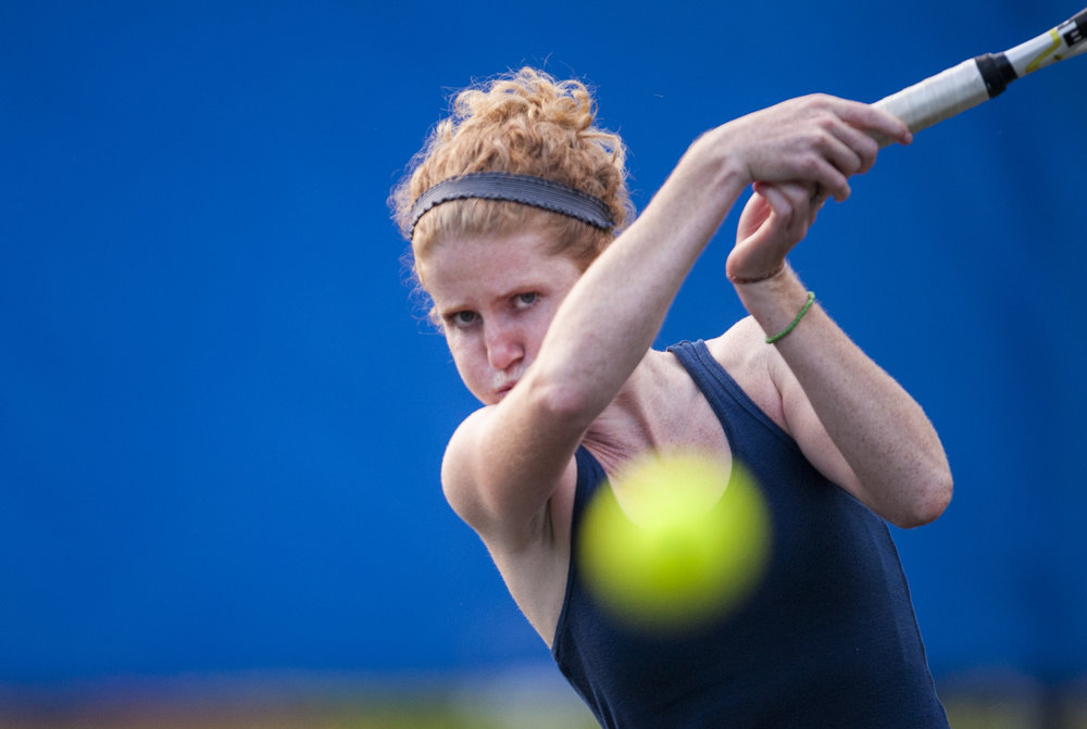 When you tell a collegiate tennis player to aim for the camera, they hit the camera.