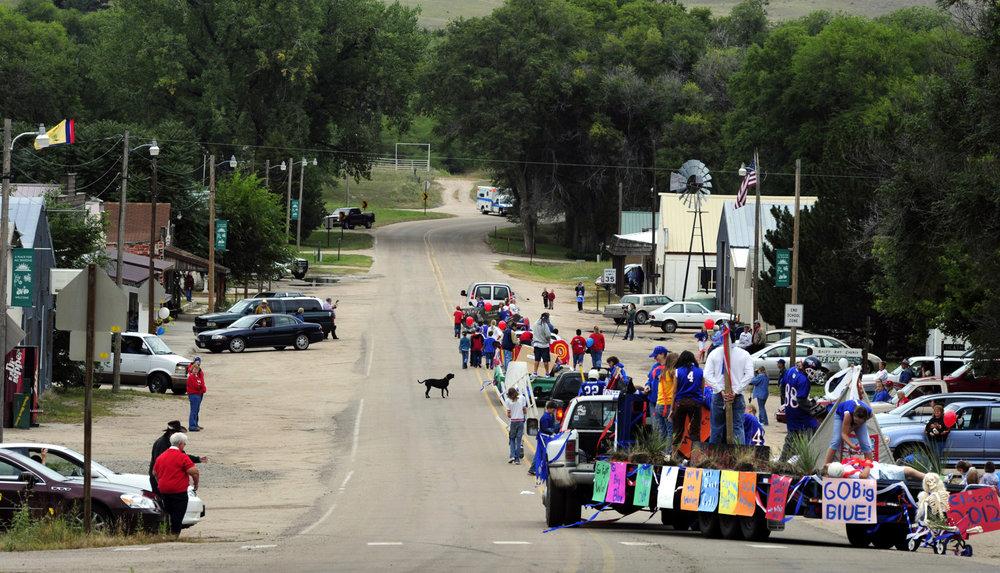 The Arthur County High School Homecoming Parade.