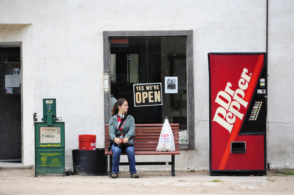 Sitting outside the Arthur gas station / convenient store / tire shop.