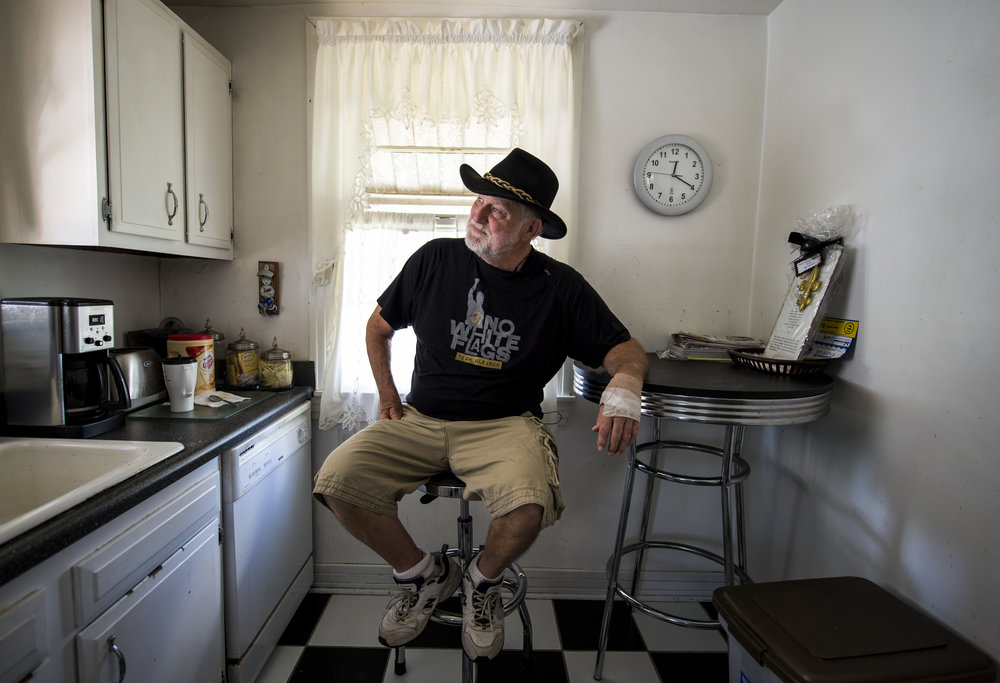 Tom Dempsey in his galley kitchen in New Orleans, LA.