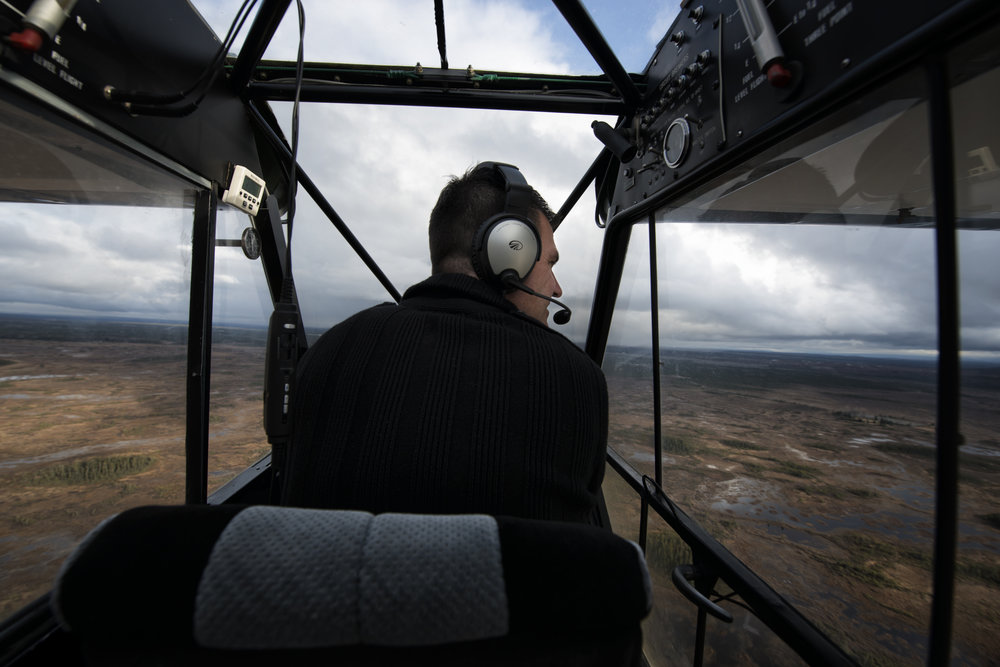 Jason Elam flying above Alaska. AS we flew, he pointed out different areas, animals and natural phenomena, of which there are plenty in Alaska.