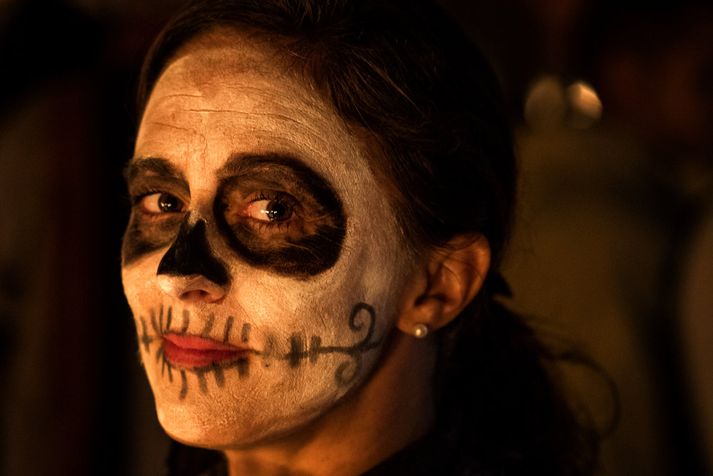 Me and my Catrina face paint, lit by the candles of Tsin Tsun Tsan.