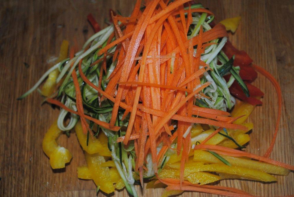 Ribbon Vegetables