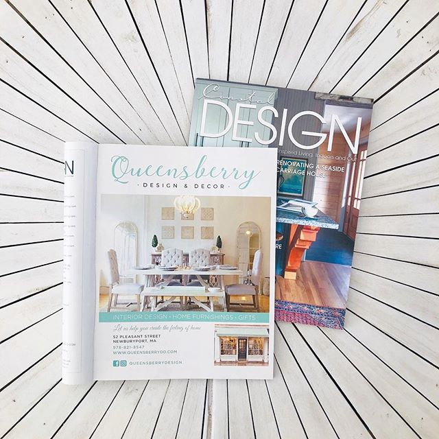 Have you read the first edition of @coastaldesignmag?! If not, get your hands on one, it won't disappoint! . . . . . . #coastaldesign #coastalliving #homedesign #designmagazine #coastaldesignmag #inspiredliving #homeinspiration #newenglandliving #newengland #coastaldecor #queensberrydesign #queensberrydd #shopqueensberry #design #decor #interiordesign #homestaging #homefurnishings #homedecor #interiors #interiordecorating  #seasiderenovations #instahome #coastalhome #newenglandhome #howyouhome #designinspo #newburyport #nbpt