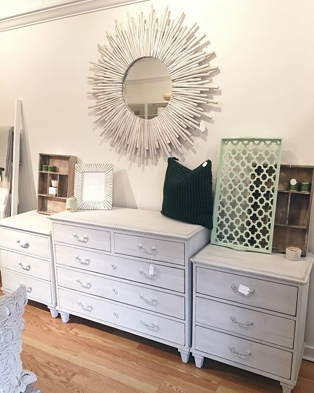Spring is in the air today in #newburyport! 🌿 And if you ask us it's long overdue. Enjoy it, friends!  Our #fridayfavorite goes out to our Dudley Dresser and Nightstand combo (now 30% off) and our NEW Sunburst Mirror! . . . . . . #spring #springdecor #homedecor #queensberrygreen #fridayfavorites #homefurnishings #homestore #interiordesign #design #decor #newenglandliving #newenglandhome #interiors #interiorstyle #instadecor #howyouhome #interiordecorating #inspiredliving #prettylittleinteriors #livecolorfully #queensberrydesign #queensberrydd #queensberrydecor #queensberry #queensberrystyle #shopqueensberry #shopnewburyport #nbpt