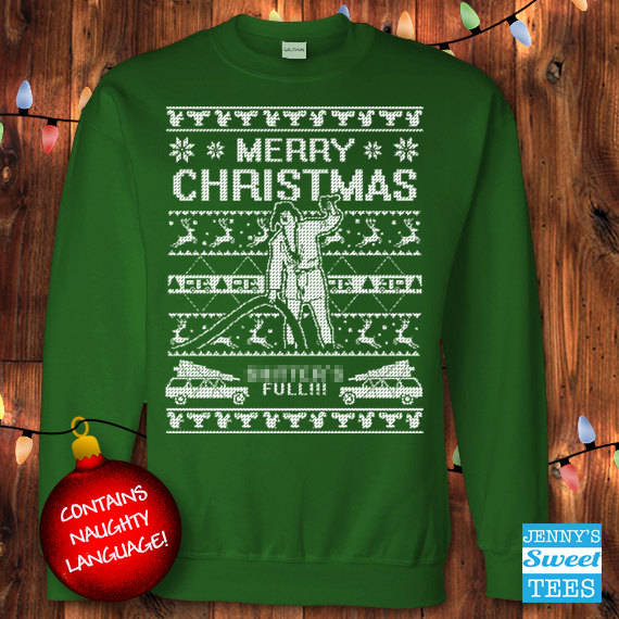 ugly christmas sweater shtters full christmas vacation cousin eddie sweatshirt