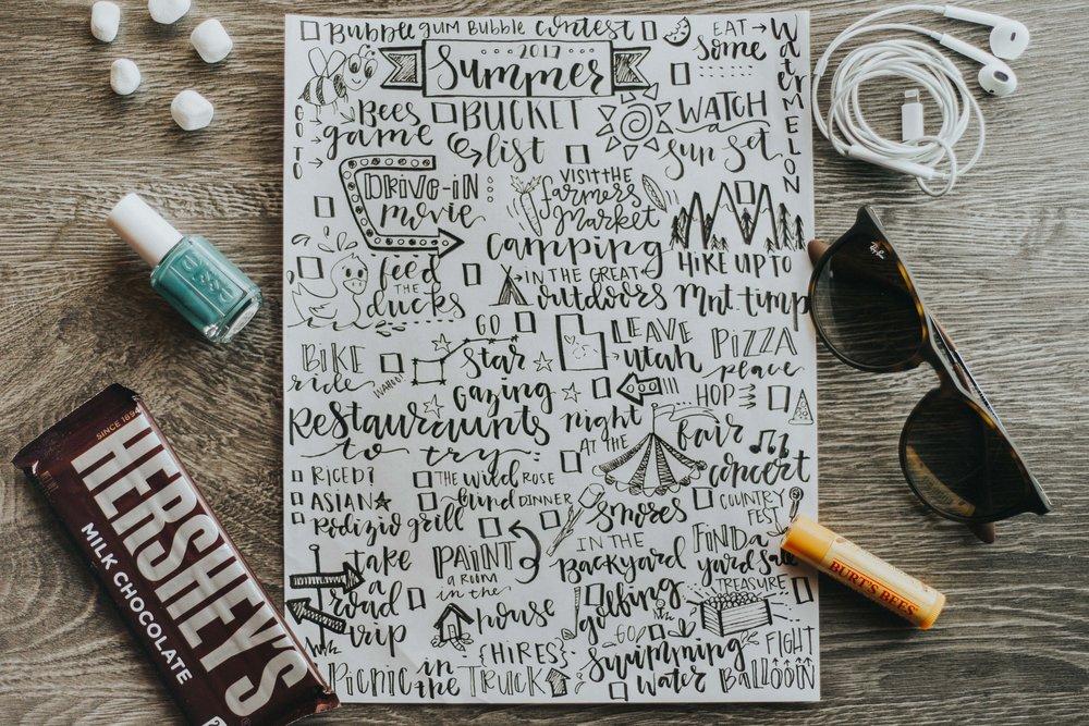 Lettering | Summer | Blog | Lettering | Calligraphy | Dellany Elizabeth | www.dellanyelizabeth.com | Stop Motion | Lifestyle Blog | Utah Blogger