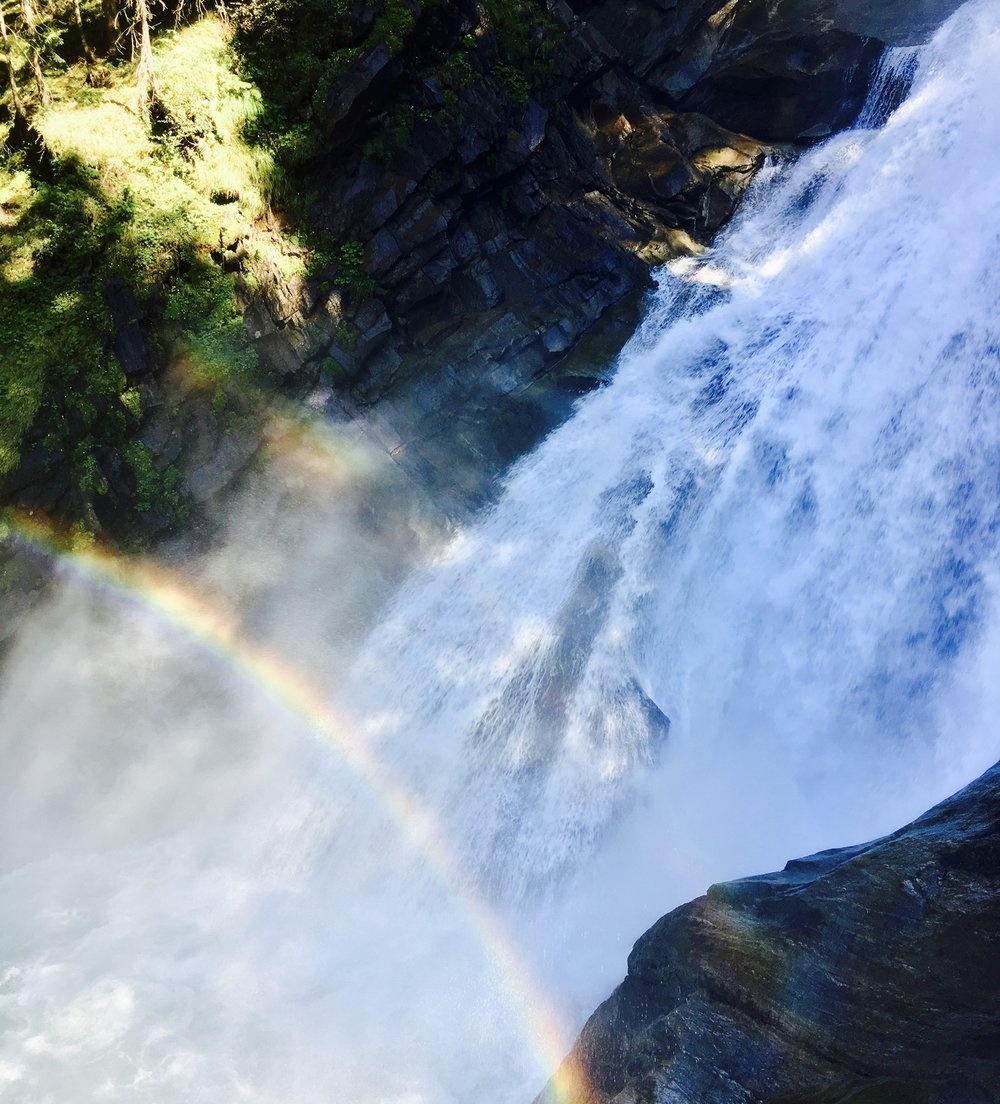 Double Rainbow at Krimml Waterfalls