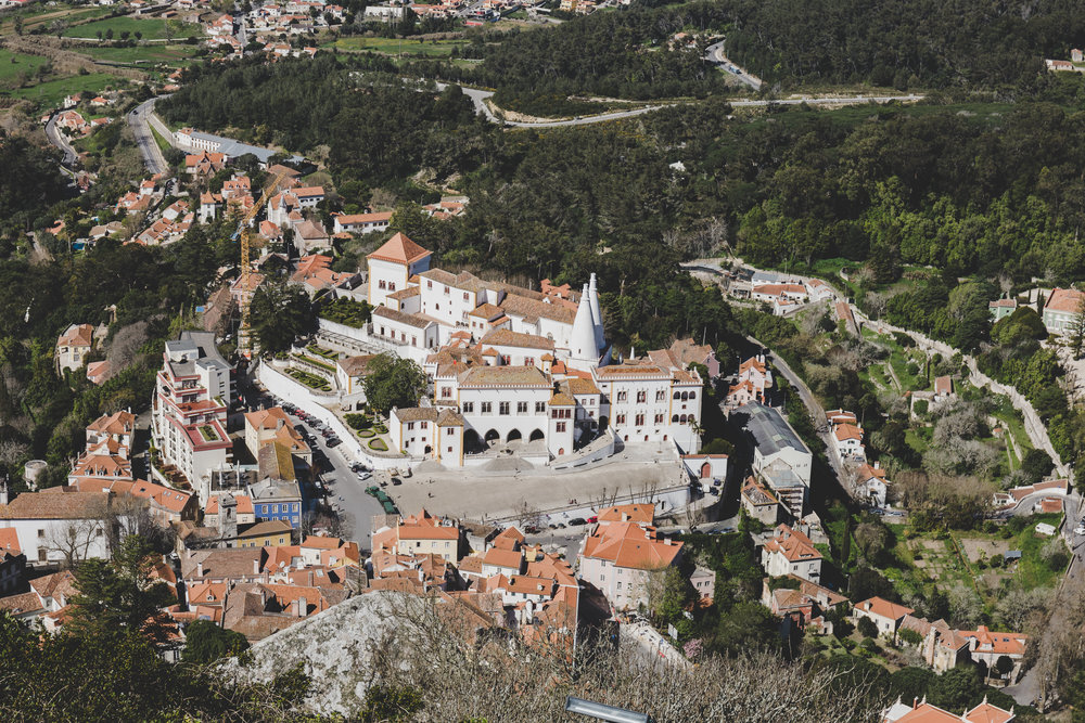 Town of Sintra from Castelo dos Mouros