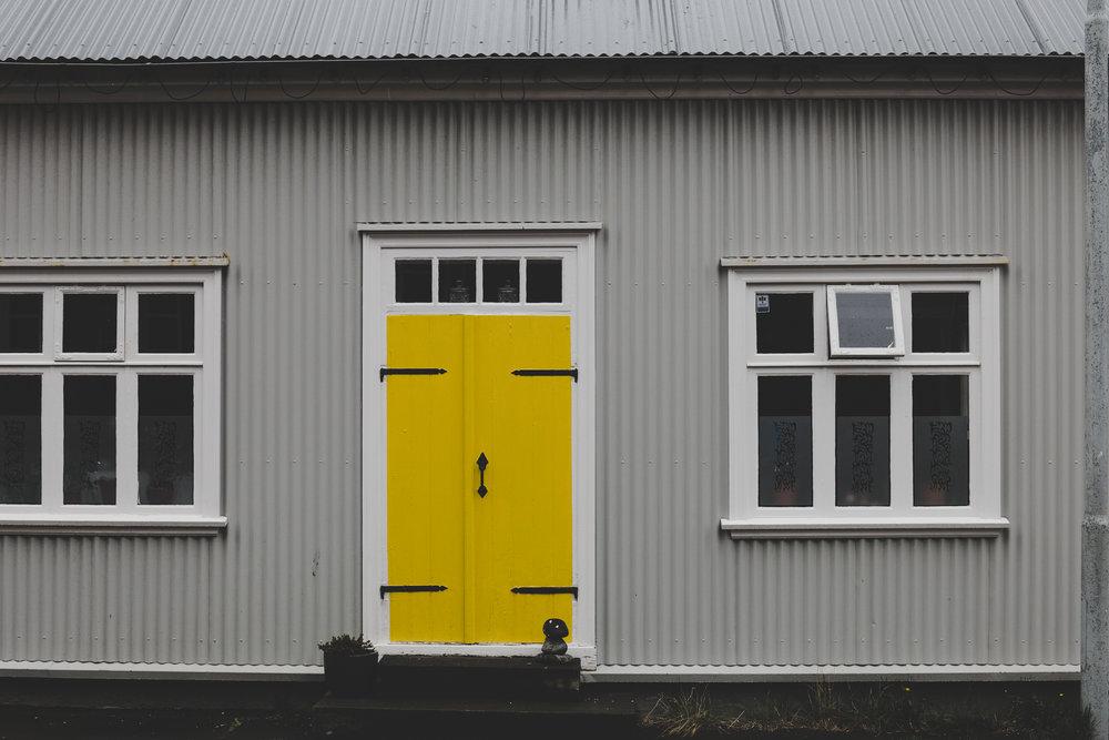 Walking along the streets of Reykjavik