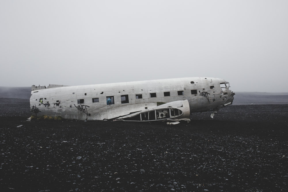 Sólheimasandur plane wreck in the middle of nowhere