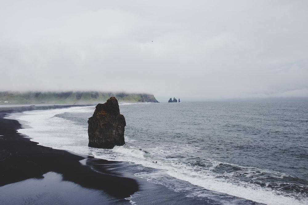 Rocky cliffs of Reynisdrangar