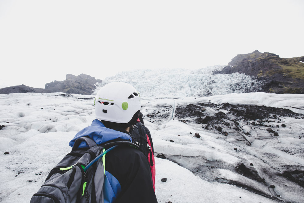 Starting our hike on Virkisjökull