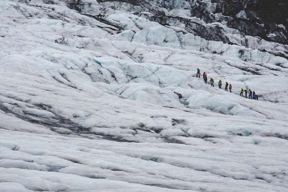 Hiking on Virkisjökull