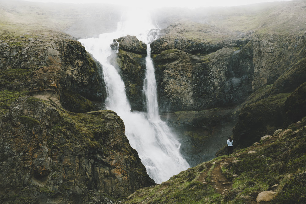 One of the many waterfalls in Eastern Fjords