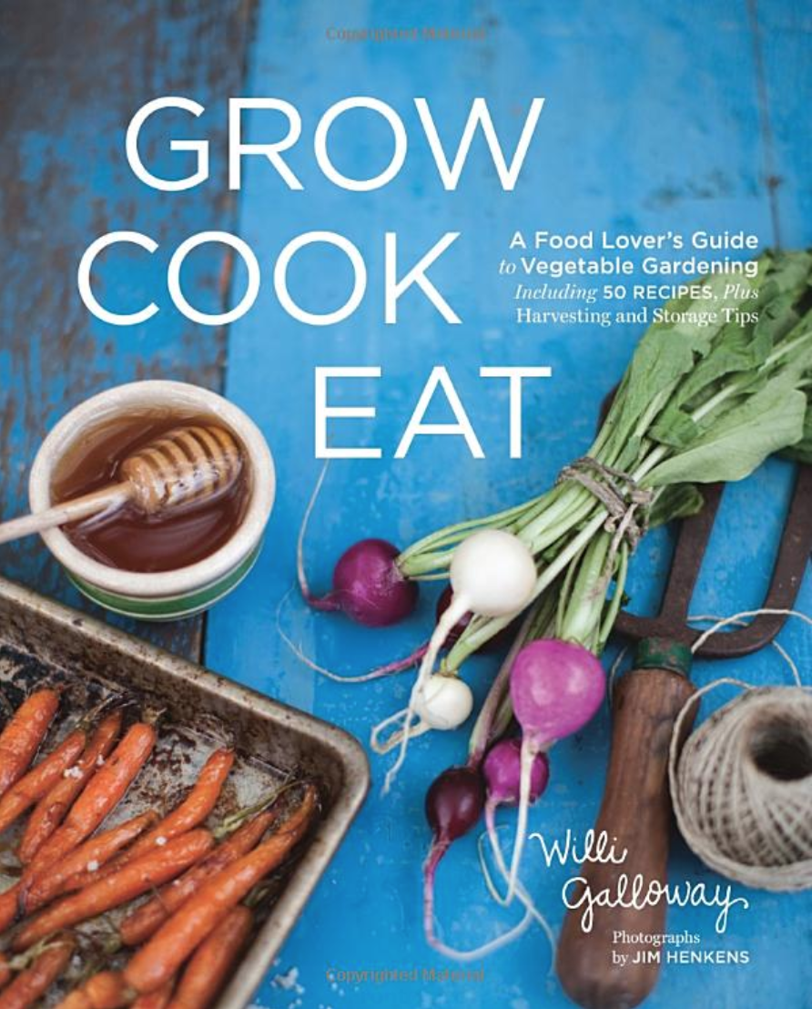 MY FAVORITE GARDENING BOOK. FILLED WITH GROWING TIPS, RECIPES, AND INFORMATION ABOUT WHICH PARTS OF EACH PLANT ARE EDIBLE. BEAUTIFUL PHOTOS TOO!