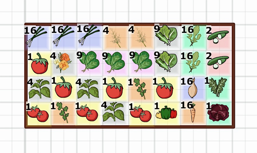 "PART OF OUR 2018 GARDEN USING THE ""JUNG VEGETABLE GARDEN PLANNER"". THERE'S A ""SFG"" MODE YOU CAN SWITCH ON THAT'S SO HELPFUL FOR VISUALLY PLANNING YOUR GARDEN. FILLED WITH TIPS, GROWING INFO, AND COMPANION PLANTS FOR EACH CROP/PLANT."