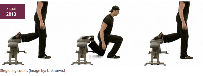 "How much ""dip"" in the coronal plane is in your single leg squat? ""In conclusion, the Single-Leg Squat is a reliable tool to identify patients that would need to improve their hip and trunk muscle weakness and dysfunction (by strengthening and neuromuscular coordination retraining). "" Crossley et al., Am J Sports Med 39 (2011) 866 - 873. Performance on the single-leg squat task indicates hip abductor muscle function. - Anatomy &… Clinical assessment of performance on the single-leg squat task is a reliable tool that may be used to identify people with hip muscle dysfunction.ANATOMY-PHYSIOTHERAPY.COM"