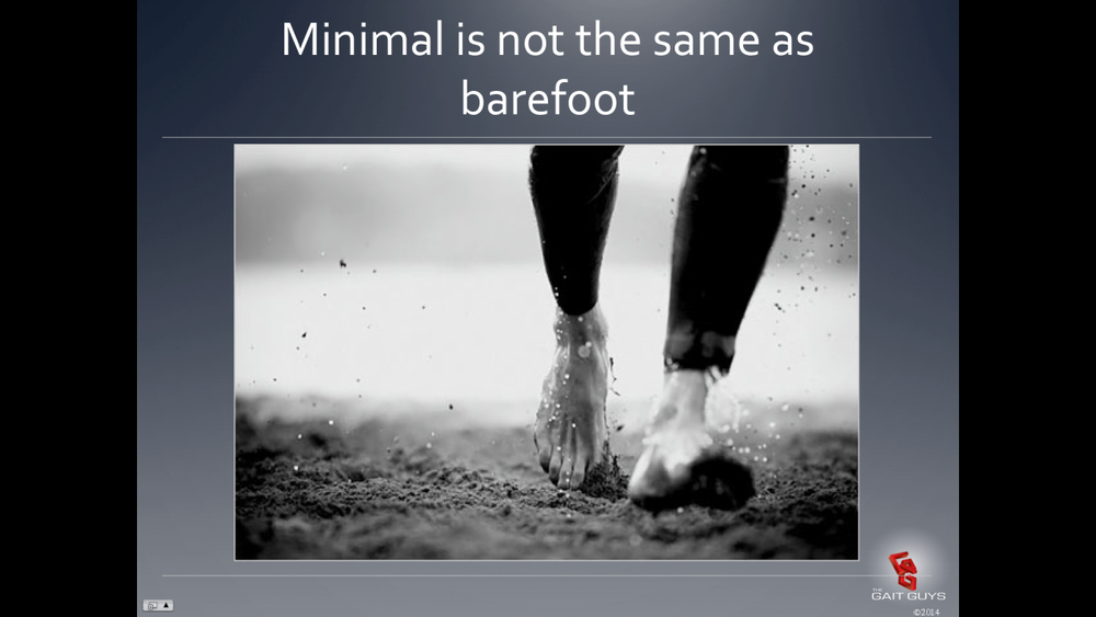 Tomorrow we lecture on Minimalistic Footwear and its impact on runners on onlinece.com and chirocredit.com. Join Us. Biomechaics 318; 8PM Eastern, 7 Central, 6 Mountain, 5 Pacific. All the cool people will be there and if you attend, you will know why barefoot is not the same as minimal