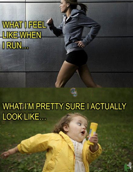 what we think we look like  when we run is not always the case.  Pictures are worth a thousand words !