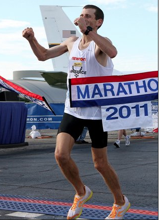Congrats to our good friend and colleague, Dr Mark Cucuzella, just won ANOTHER Air Force marathon. Congrats to you, Mark . Read all about it here:    http://naturalrunningcenter.com/2011/09/18/winning-air-force-marathon-natural-running-centers-dr-mark-cucuzzella-44-238/