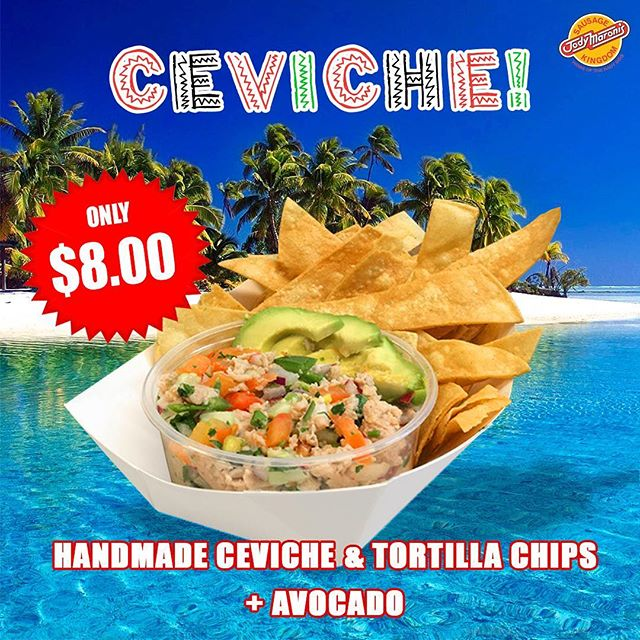 IT'S BACK! @jodymaronis 😋😋#jodymaronis #jodymaronissausagekingdom #venicebeach #venice #venicebeachboardwalk #losangeles #lafoodie #california #munchies #ceviche #peruvianfood #peruvian #carribeanfood #mexicanfood