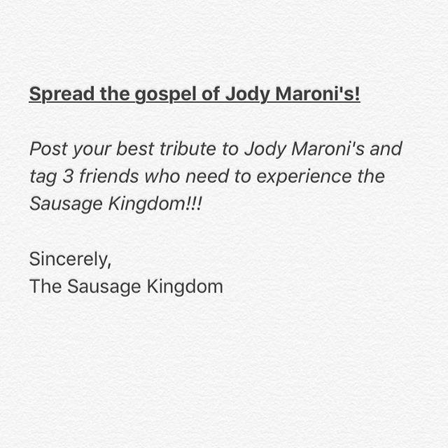 Spread the word about Jody Maroni's!!! #sausagekingdom #jodymaronissausagekingdom #jodymaronis #venicebeach #sausage #hotdog