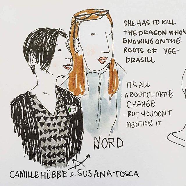 Tegnere fra reykjavik kunstskole fangede gode Camilla og Susana Tosca som præsenterede Nord #nord_app #myrinfestival